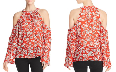 Red Haute Tiered-Sleeve Cold-Shoulder Top - Bloomingdale's_2